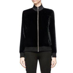 LPA Revolve Velvet Bomber Jacket in Black